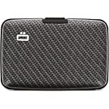 Ögon Smart Wallets - Stockholm Aluminium Wallet - RFID Blocking Card Holder - Up to 10 Cards, and Banknotes - Carbon Effect/L