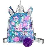 WolinTek Kinderrucksack, Einhorn Pailletten Tasche, Kinderrucksäcke,Mädchen Schulrucksack Umhängetasche,Einhorn Rucksack Mädc