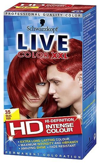 schwarzkopf live xxl colour intense permanent coloration 35 real red - Schwarzkopf Coloration