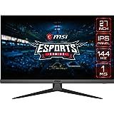 "MSI Optix G272 - Monitor de 27"" FullHD 144Hz (1920x1080p, ratio 16:9, Panel IPS, 1 ms respuesta, brillo 250 nits, Anti-glare)"