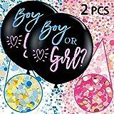 Annhao Reveal di Genere Palloncino, 2 Pezzi Baby Shower Balloon Boy or Girl Reveal Party Palloncino da 36 Pollici(Circa…