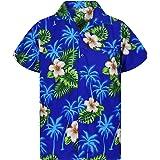 Original King Kameha | Funky Camisa Hawaiana Señores | XS-12XL |Manga Corta Bolsillo Delantero | Impresión de Hawaii | Small