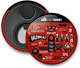 """Mc Sid Razz Official""""The Big Bang Theory"""" - Infographic 2 in 1 [ Fridge Magnet + Bottle Opener ] licensed by Warner Bros,USA"""