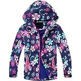 Echinodon Chaqueta para niña con forro polar, impermeable, resistente al viento, reflectores, chaqueta de entretiempo, chaque