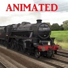 Black Steam Train Live Wallpaper