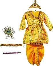 Pakhi Little Krishna Themed Krishna Costume Set With Accessories (9 - 12 months, Bright Yellow)
