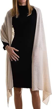 Stola Misto Cashmere Donna Made In Italy Lana Merino Cachemire Nero Beige Bianco Grigio Sciarpa Sciarpone Uomo Scialle Calda Taglia Unica Mantella Pashmina Coprispalle