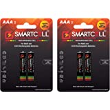 Smartcell AAA Ni-MH Rechargeable Batteries 1000mAH – Pack of 4 with Free Mask
