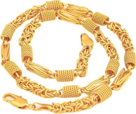 Glory Jewels Alloy Gold Plated Men's Chain
