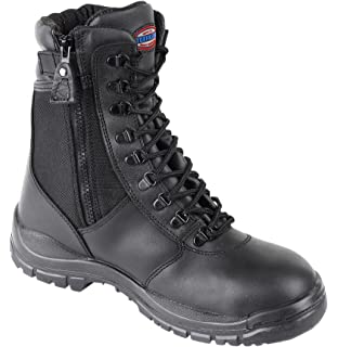 HIMALAYAN 5060 S3 black leather high safety boot with midsole and side-zip
