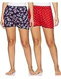 Longies Women Regular Fit Viscose Casual Shorts Pack of 2