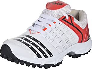 Flyp White Black Red Cricket Shoes (Free Delivery)