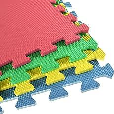 Ineinandergreifende Schaumstoff-Fliesen/ EVA-Bodenmatten inklusive Kanten,auch toll als Spielmatte für Kinder, Bodenbelag-Set
