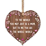 Gift for mum   Worlds Best Mum Wooden Plaque   Mothers Day gifts for Mums   thank you birthday christmas   something…