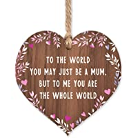 Gift for mum | Worlds Best Mum Wooden Plaque | Mothers Day gifts for Mums | thank you birthday christmas | something…