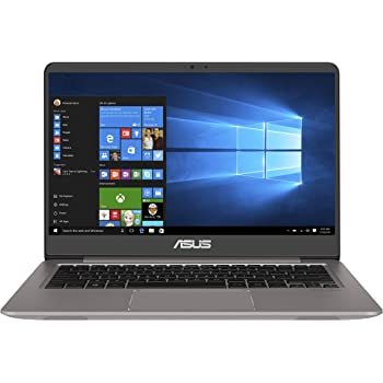 Asus Zenbook UX3410UQ-GV102T 35,56 cm (14 Zoll FHD matt) Laptop (Intel Core i7-7500U, 8GB RAM, 256GB SSD, 1TB HDD, NVIDIA GeForce 940MX, Win 10) grau