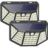 Luce Solare Esterno,212LED Faretto solare ,3 Modalità Luci,IP65 Impermeabile,LED Luci Solari Esterno con Sensore di Movimento