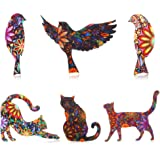 WILLBOND Juego de 6 Piezas de Alfileres de Broche con Forma de Animal Broche de Solapa para Gato y Pájaro Unisex Broche de In
