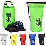 Relaxdays Ocean Pack, 20L, wasserdicht Packsack, ultraleichter Dry Bag f. Kajak, Rafting, Segeln, Ski, Snowboarden