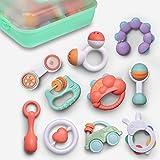 GizmoVine Sonajeros Bebe ,10 Piezas Juguetes Sensoriales para Bebé recién con Caja de Almacenamiento Adecuado para BebéS De 3