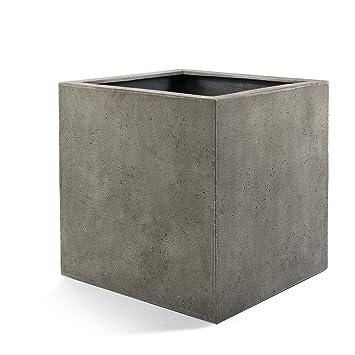 "Pflanzkübel ""Lite Cube"" Grau Quadratisch Fiberglas *5 Jahre ..."