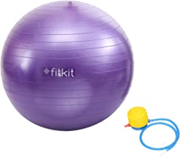 Fitkit FK97403 Anti-Burst Gym Ball with Pump, 65 cm