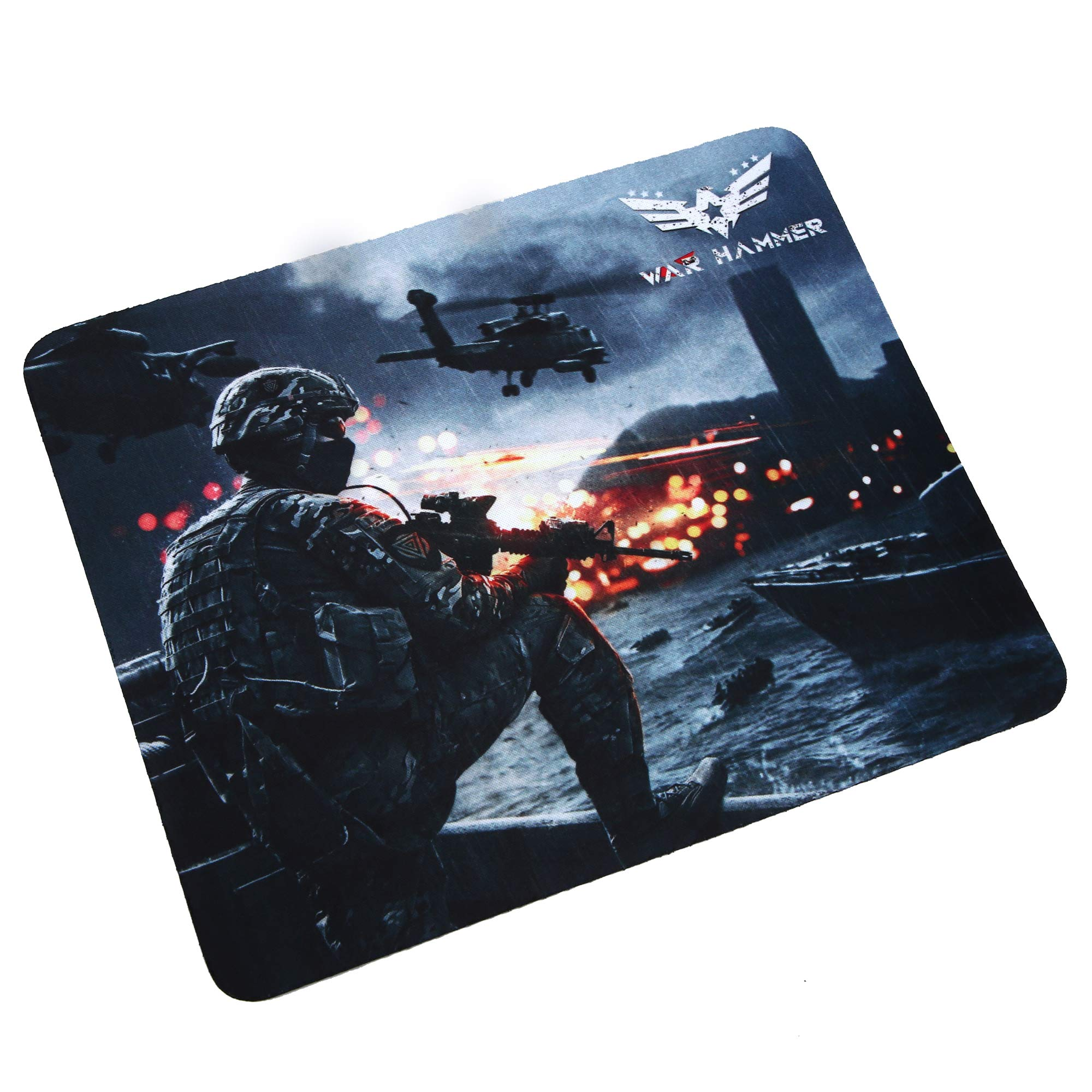 WAR HAMMER GX1050 Speed Type Gaming Mousepad (Small, Black/Blue)