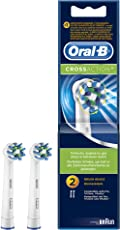 Oral-B Cross Action Brush Head Refills Toothbrush - Pack of 2 (White)