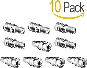Act 100BNC-Stecker auf F Buchse Adapter Koax Stecker Kupplung Adapter CCTV Kamera