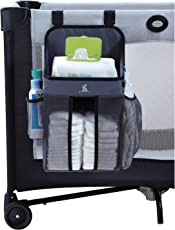hiccapop Playard Nursery Organizer and Diapers Organizer | Baby Diaper Caddy | Universal Fit for Hanging on All Playards | Store Lotion