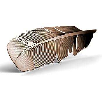 Segnalibro KOSHA a forma di piuma - Oro Rosso con giftbox (Lega di oro 16 carati e di rame, stratificati su una base di acciaio inossidabile). Idea regalo