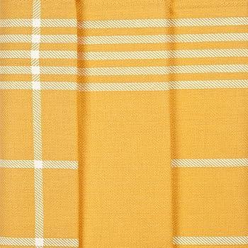 Ross 3er Pack Baumwoll-Geschirrtücher Karo 1742 gelb