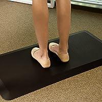 FLEXISPOT Bodenmatte für Schreibtisch, Küche, komfortabel gegen Müdigkeit, Schwarz