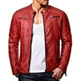Red Bridge - Modern Real Leather, Cotton and Synthetic Leather Jacket for Men
