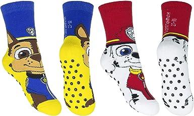 2 Paar Paw Patrol ABS Socken Jungen Haussocken Kinder Anti Rutsch Strümpfe