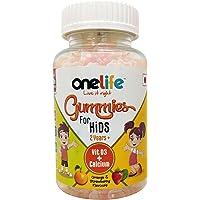 Onelife Gummies for Kids (Calcium + Vitamin D3) for Healthy Bones and Teeth Orange & Strawberry Flavor - 30 Gummies