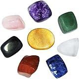 Juego de 8 piedras de chakra, cristales curativos, para meditación de cristal, reiki o como piedras de preocupación o piedras