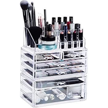 Lager Unterseite Drehbar Schublade Kosmetik-Box F/ür Kommode Schlafzimmer Wei/ß Make Up Organiser Badezimmer