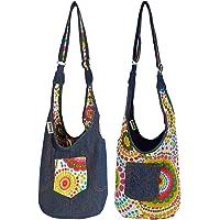 Sunsa Mädchen Tasche, Umhängetasche klein, Stoffbeutel bedruckt. kleine Hobo/Sling bag. Sporttasche kind/Turnbeutel…