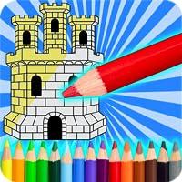 Paint Castles Coloring