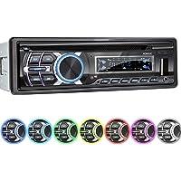 XOMAX XM-CDB624 Autoradio avec Lecteur CD I RDS I Bluetooth I USB, Micro SD I 2X AUX I 7 Couleurs d'éclairage réglable I 1 DIN