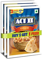 Act II Instant Popcorn, Cheese, 3x70g (Buy 2 Get 1 Free)