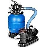 tillvex Système de Filtre à Sable 10 m³/h – 5 Fonctions de Filtration | Filtre de Piscine avec indicateur de pression | Filtr