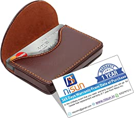 Business card holders buy business card holders online at best nisun leather pocket sized businesscreditname card holder case wallet with magnetic shut reheart Images
