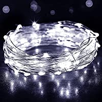 Fairy Lights Battery Operated, [2 Pack] 39Ft 120 LED Outdoor String Lights Battery Powered Waterproof 8 Modes Decorative…