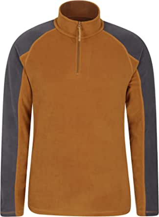 Mountain Warehouse Ashbourne Mens Fleece - Microfleece Sweater, Antipill Midlayer, Warm Top - Best for Winter, Camping, Trekking, Hiking