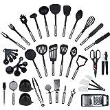 Ensemble de 42 pièces par KRONENKRAFT - set de cuisine en acier inoxydable et nylon, ensemble de gadgets de cuisine, set de c