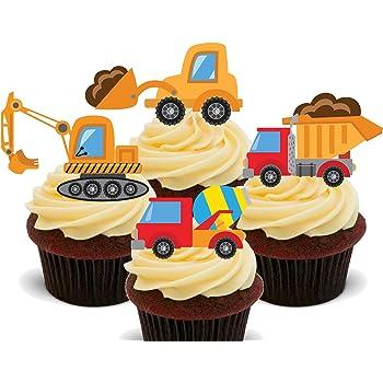 Schaufler Und Lastwagen Kinder Baufahrzeug Sammlung Essbare Kuchen