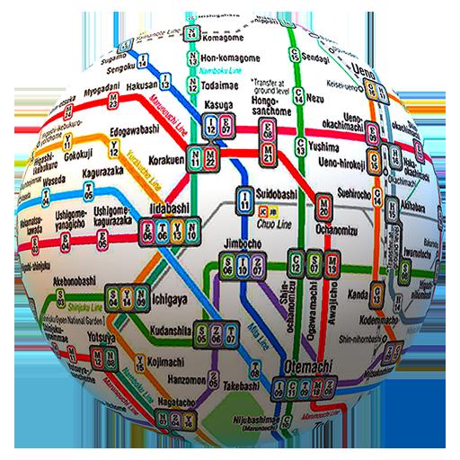 Öffentliches Verkehrsnetz offline - Die ganze Welt - System Pl-licht