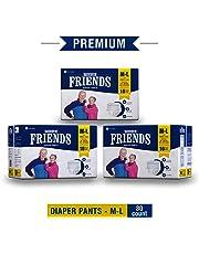 """FRIENDS Premium Unisex Pull Ups - Diaper Pants Waist Size (25.6""""- 39.4"""" Inch) M-L (30 Pcs)"""